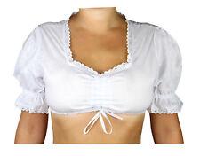 Damen Dirndlbluse Trachtenbluse Bluse Klassik weiß  MS-Trachten