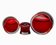Pair of Acrylic Fake Blood Filled Plugs (PA-409) gauges 2g through 1 inch