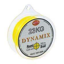 (0,07€/m) WFT Round Dynamix gelb rund geflochtene Angelschnur 300m Braid Geflech