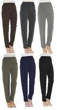 Damen Hose gerade Schlupfhose Schlupfform Dehnbund Bügelfalte Anzugshose Sommer