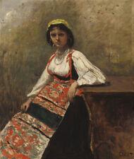 """Camille Corot : """"Italian Girl"""" (c.1872) — Giclee Fine Art Print"""