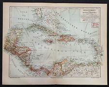 1890, # 2 MAPPE.GEO-TOPOGRAFICHE=1)WEST INDIE-CENTRAL AMERICA.2)ANTILLE.TRINIDAD