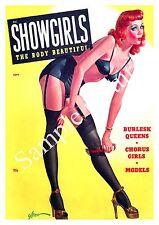 Coristas: Vintage pulpa Pin Up portada de la revista, reproducción de cartel.