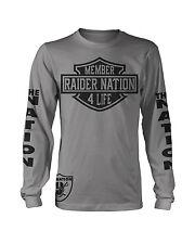 Raiders Raider Member Nation 4 Life Long Sleeve T-Shirt (New) Oakland Edition
