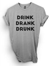 Drink Drank Drunk Shirt, Funny Beer Shirt, Cute Wine Booze Alcohol Tee