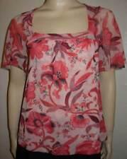 SWEET PEA STACY FRATI Babydoll Print Mesh Shirt S