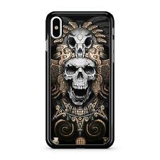 Happy Skull King Golden Metallic Patterned Body Armour 2D Téléphone Étui Housse