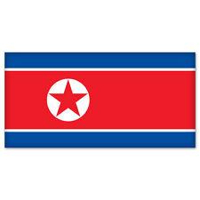 "North Korea Korean Flag car bumper sticker 5"" x 4"""
