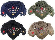Femmes écharpe en tissu avec logo et emblèmes stylé Plusieurs couleurs
