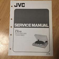 Original JVC Service Manual for L Model Turntables ~ Select One