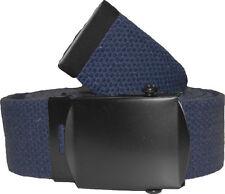 Blu Scuro Cintura Con Fibbia Neri 100% cotone Web Militare Cinture Rothco 4294