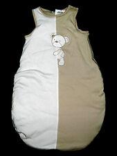 Schlafsack Jacky Baby beige weiss kuschlig warm 74 80 86 NEU
