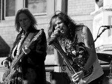 Aerosmith Steven Tyler Tom Hamilton BW Stage Retro Giant Print POSTER Affiche