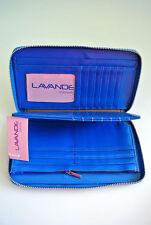 Women Fashion Artificial Leather Wallet Zip Around Case Purse Wallet Lady Blue