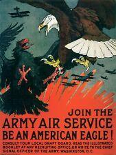 WW1 American Aviation Propaganda Poster - WWI Pilot Aircraft Military Prints
