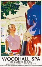 TU4 Vintage Woodhall Spa Lincolnshire LNER Railway Travel Poster A3/A2