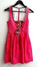 Damen Trachten Dirndl ärmellos pink m. Pünktchen Gr. 34, 38 v. Outfit