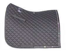 Black Contoured Dressage Horse Saddle Pad  Diamante Trim PONY/COB Size