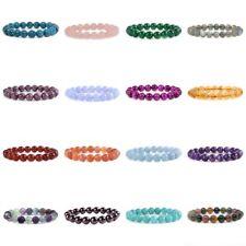 """10mm Fashion round gemstone beads stretchable bracelet 6.5"""""""