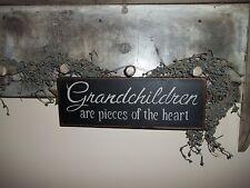Wood Sign GRANDCHILDREN Country Prim Rustic Home Decor  Gift Grandparent Sign