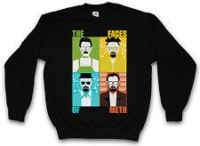FACES OF METH SWEATSHIRT SWEATER PULLOVER - Breaking Walter Heisenberg White Bad