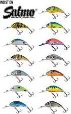 Salmo Rattlin 'HORNET GALLEGGIANTE dei pesciolini artificiali 6.5 cm/Pesce Persico Luccio Esca Plug