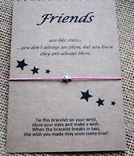 Wish Bracelet / Friends Are Like Stars / Friendship Gift / Best Friend Gift Card