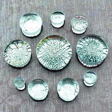 Metallic Silver Glass Plugs