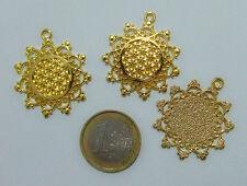 3pz ciondolo fiore della vita 30mm  bijoux per collana, bracciale