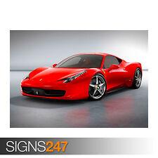 FERRARI 458 ITALIA (0816) Car Poster - Picture Poster Print Art A0 A1 A2 A3 A4