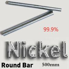 "Dia6-15mm 99.9% Nickel Ni Round Bar Rod Electrode Anode 20"" Element AU Stock"