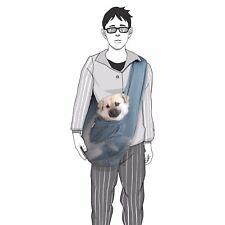 Foldable Mesh Dog Cat Pet Crossbody Carrier Sling Shoulder Bag Medium Size