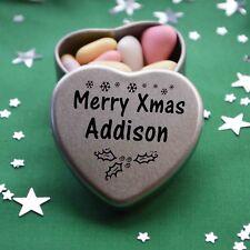 Merry Xmas Addison Mini Heart Tin Gift Present Happy Christmas Stocking Filler
