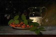"Raphaelle Peale : ""Strawberries and Cream"" (1816) — Giclee Fine Art Print"