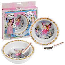 Shirley Barber's Fairies Melamine Dinner Gift Set Bowl & Spoon Food Breakfast