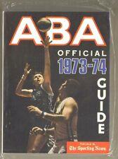 1973-74 SPORTING NEWS AMERICAN BASKETBALL ASSOCIATION ABA GUIDE - NEAR MINT
