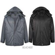 Mens Semi Fleece Lined Winter Waterproof Breathable Coat Jacket size M to 6XL,