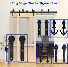 4-20FT Sliding Barn Door Hardware Closet Track Kit Single/Double/Bypass 2&4 Door