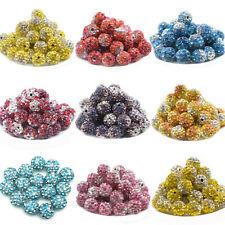 Gradient Pave Crystal Disco Balls Czechs Shamballa Loose Beads DIY Bracelet 10MM