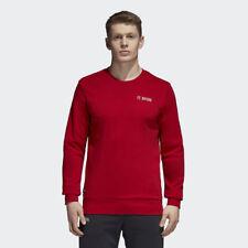 adidas FC Bayern Graphic Sweatshirt New Red Light Bone Sportswear CW7340
