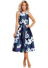 LADIES MYLENE KLASS FLOWER EVENING / PARTY / PROM / FORMAL DRESS  - DARK BLUE