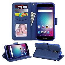 BLU Studio Max S0310UU/ STMAX Leather Wallet Case w. Credit Card Slots