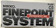 Nikko technique permanent noir pointe fine stylos (lot de 12) * avec Cadeau Gratuit *