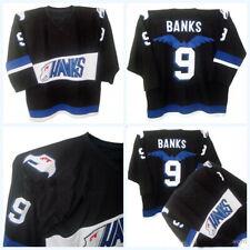 Throwback Movie Mighty Ducks #9 Adam Banks Hawks Team Hockey Jerseys All Stitch