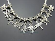 Wholesale Tibetan Silver Mix Butterfly Dangle Charms Fit Charm Bracelet ZY023
