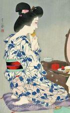 Geisha Vanity Mirror Quilt Block Multi Sizes FrEE ShiPPinG WoRld WiDE (G8