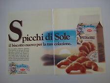 advertising Pubblicità 1986 SPICCHI DI SOLE MULINO BIANCO