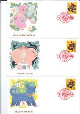 PR China 1988 T124 Dragon FDCs set of 12 Freetwood covers rare