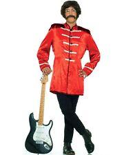 Sargent Pepper Style Uniform Coat Poly Satin Jacket With Braid & Epaulets Med.