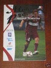 REGGINA FIORENTINA PROGRAMMA PROGRAMME SERIE A 2005/06